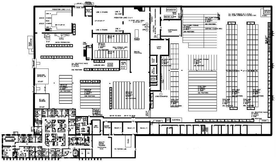 Floor plan of building