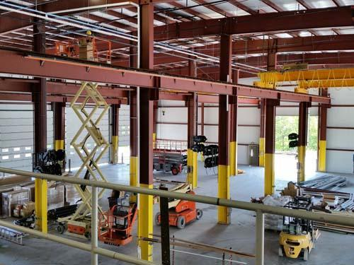 Construction services industrial facility