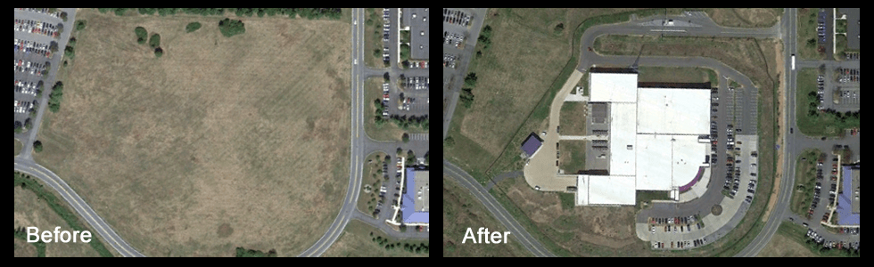 Before and after land development pictures