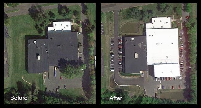 Before and After Campus Addition