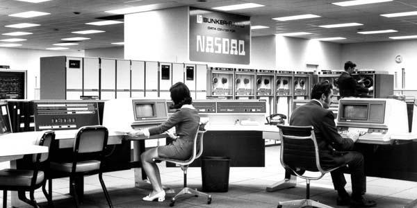 Bunker Ramo Data Center NASDAQ 1968