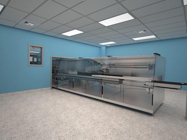 Rendering of clean room facility