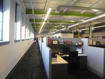 Recently completed project for office space