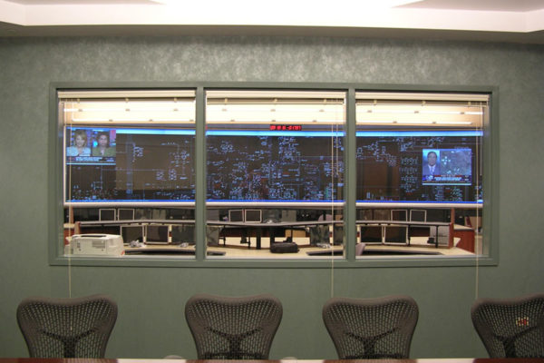Overview Room looking into control room