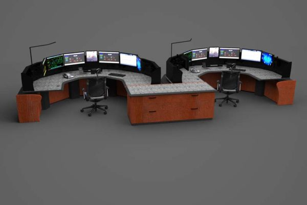 Sit stand consoles